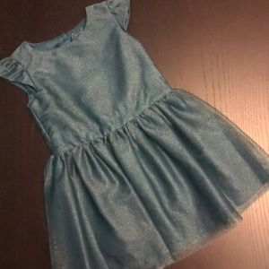Cherokee Green Teal Shimmer Party Dress